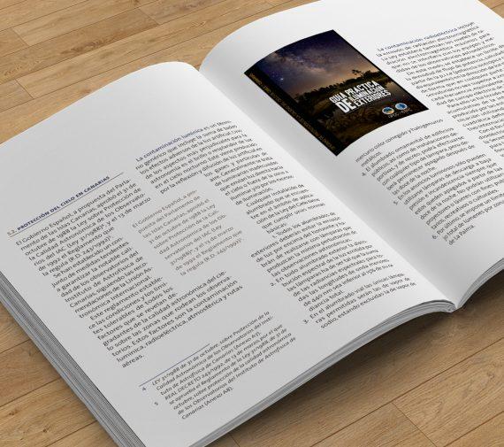 sergiohp, diseño y maquetación de libro astrofísico de canarias