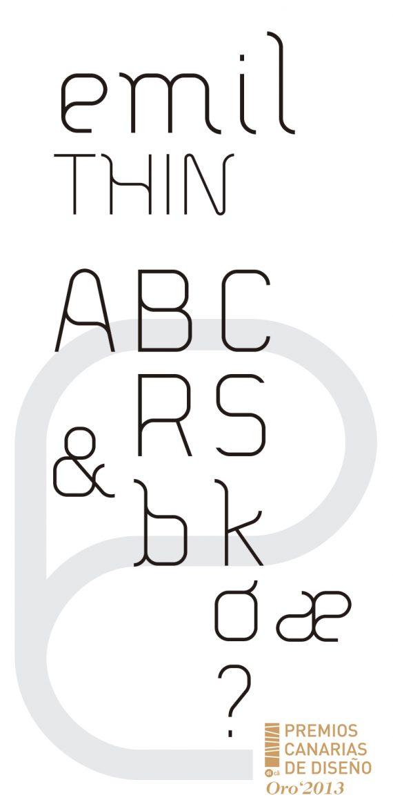 sergiohp, diseño de tipografía modular, premio oro 2013