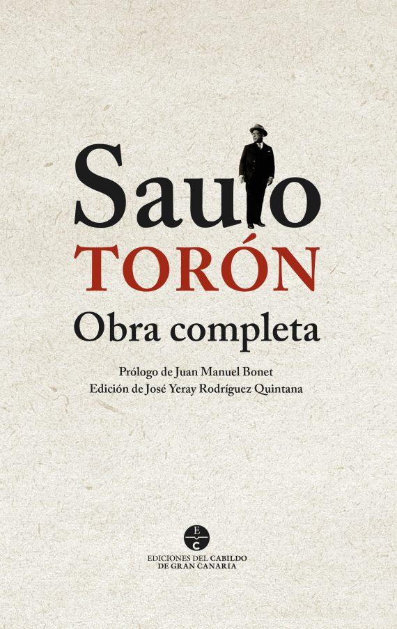 sergiohp, diseño de portada libro antología poética: Saulo Torón, obra completa